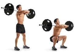 Front Squat - exercises to improve deadlift strength