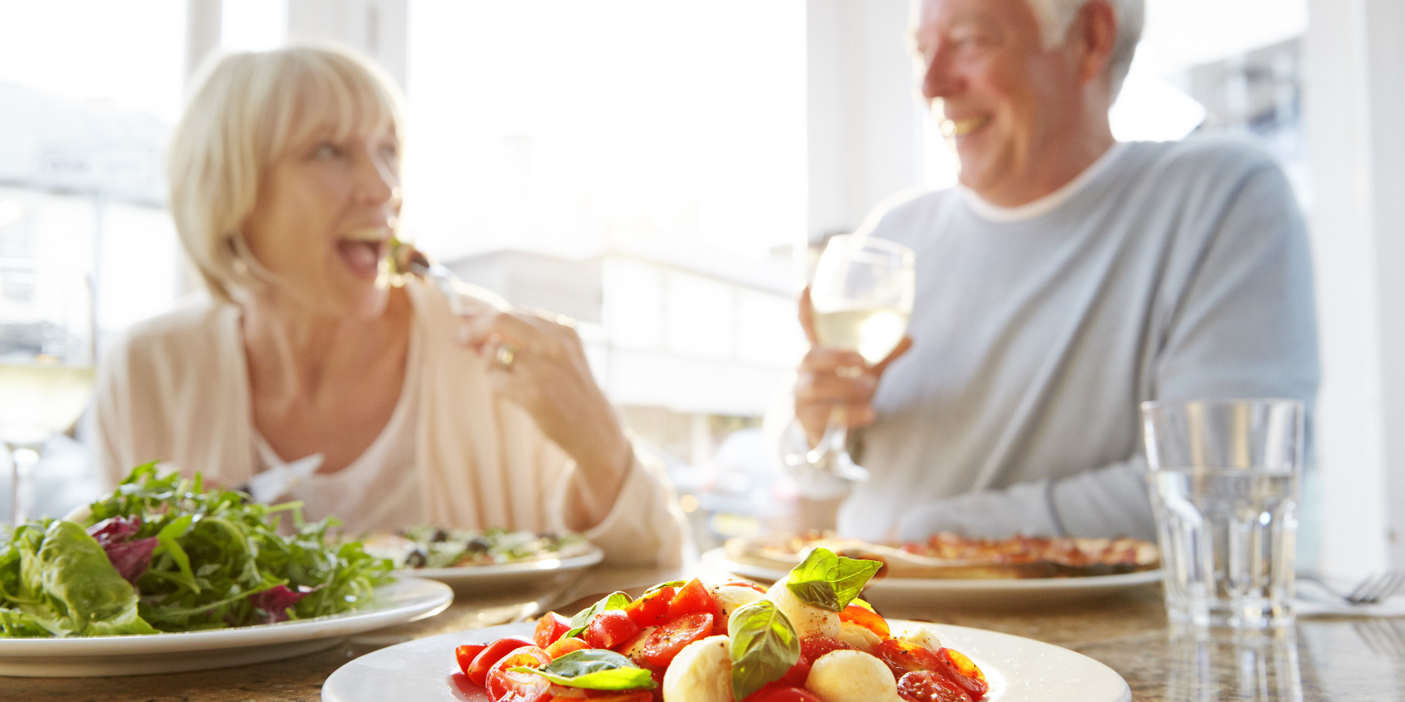 Gaining Muscle Over 50 - Older Couple Eating Healthy